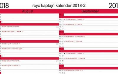 Opdateret kalender