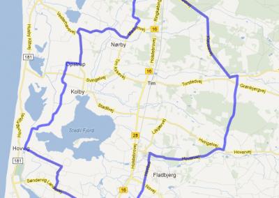 Stadil fjord – Kloster – Ulfborg, 66 km